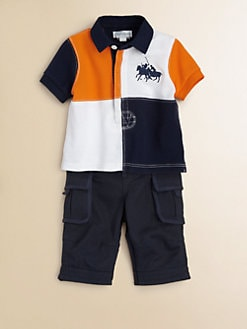 Ralph Lauren - Infant's Rugby Shirt & Cargo Pants Set