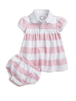 Ralph Lauren - Layette's Striped Rugby Dress & Bloomers Set