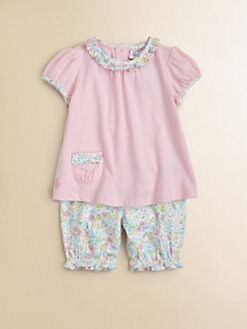 Ralph Lauren - Layette's Floral Tunic & Bloomers set