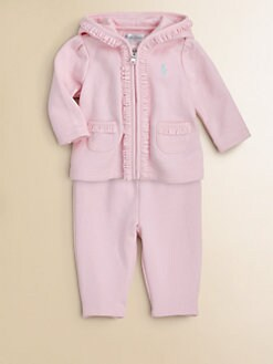 Ralph Lauren - Infant's Ruffled Terry Hoodie & Pants Set