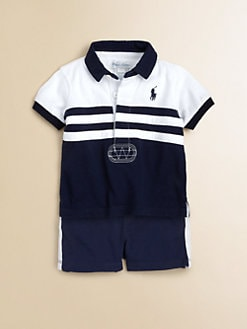 Ralph Lauren - Infant's Two-Piece Rugby Shirt & Cotton Shorts Set