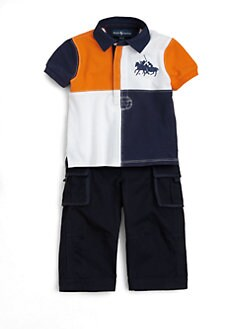 Ralph Lauren - Infant's Two-Piece Rugby Shirt & Cargo Pants Set