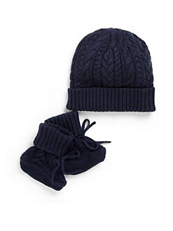 Ralph Lauren - Infant's Hat and Bootie Set