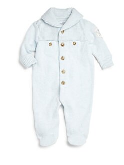Ralph Lauren - Infant's Shawl-Collar Cotton Footie