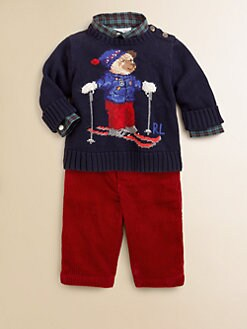 Ralph Lauren - Infant's Skiing Bear Sweater