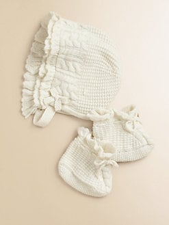 Ralph Lauren - Infant's Two-Piece Bonnet & Booties Set