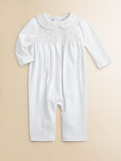 Ralph Lauren - Layette's Smocked Pima Cotton Coverall