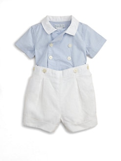Ralph Lauren - Layette's Two-Piece Shirt & Linen Shorts Set