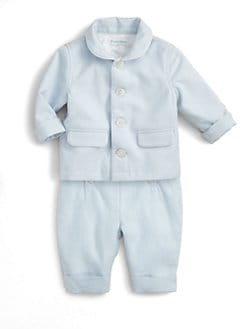 Ralph Lauren - Layette's Two-Piece Linen Overall & Bodysuit Set