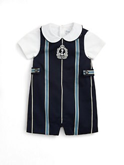 Ralph Lauren - Layette's Striped Shortall & Bodysuit Set