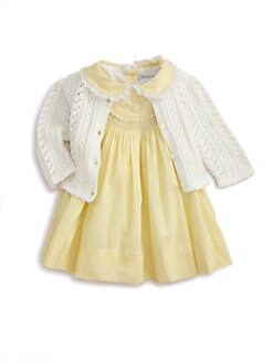 Ralph Lauren - Layette's Embroidered Dress & Bloomers Set