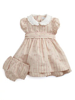 Ralph Lauren - Layette's Rosebud Dress & Bloomers Set