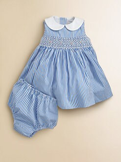 Ralph Lauren - Layette's Linette Striped Dress & Bloomers Set