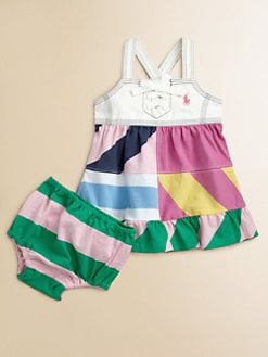 Ralph Lauren - Layette's Patchwork Jumper & Bloomers Set