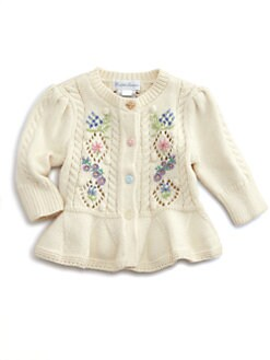 Ralph Lauren - Layette's Embroidered Pointelle Cardigan