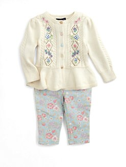 Ralph Lauren - Infant's Embroidered Pointelle Cardigan