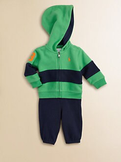 Ralph Lauren - Layette's Two-Piece Fleece Hoodie & Sweatpants Set