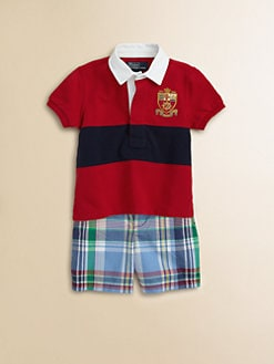 Ralph Lauren - Infant's Two-Piece Rugby Polo & Madras Shorts Set