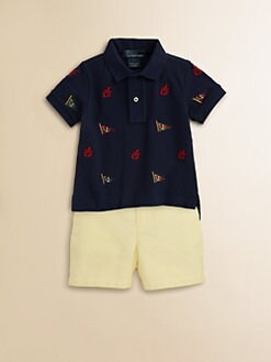 Ralph Lauren - Infant's Schiffli Polo Shirt