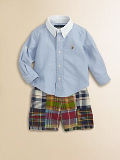 Ralph Lauren - Infant's Two-Piece Oxford Shirt & Madras Shorts Set