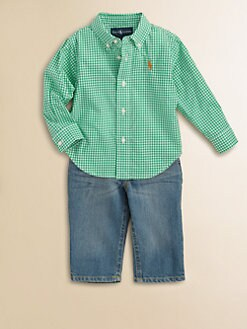 Ralph Lauren - Infant's Two-Piece Check Shirt & Jeans