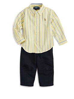Ralph Lauren - Infant's Two-Piece Striped Shirt & Pants Set