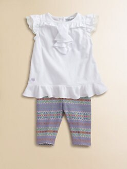 Ralph Lauren - Layette's Two-Piece Ruffled Tunic & Leggings Set