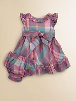 Ralph Lauren - Layette's Plaid Dress & Bloomers Set
