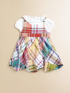 Ralph Lauren - Layette's Two-Piece Cotton Bodysuit & Plaid Jumper Set