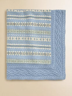 Ralph Lauren - Layette's Fair Isle Cotton Blanket