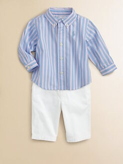 Ralph Lauren - Layette's Two-Piece Striped Oxford Shirt & Pants Set