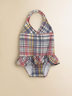 Ralph Lauren - Infant's Plaid One-Piece Swimsuit
