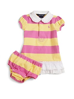 Ralph Lauren - Infant's Rugby Dress & Bloomers Set