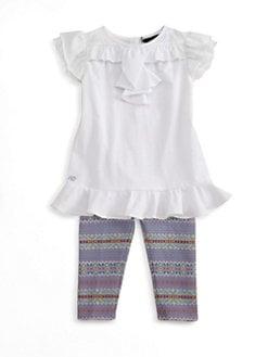 Ralph Lauren - Infant's Two-Piece Ruffled Tunic & Leggings Set