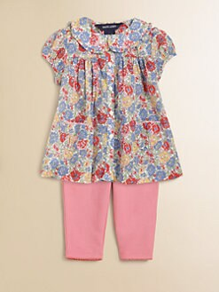 Ralph Lauren - Infant's Floral Tunic & Leggings Set