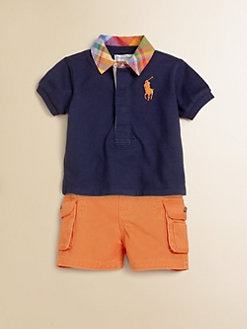 Ralph Lauren - Layette's Two-Piece Rugby Polo Shirt & Cargo Shorts Set
