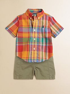 Ralph Lauren - Infant's Two-Piece Madras Shirt & Shorts Set