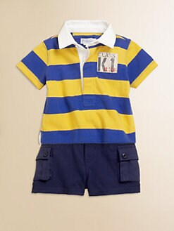 Ralph Lauren - Infant's Two-Piece Striped Jersey Rugby Shirt & Shorts Set