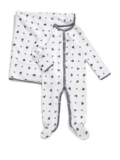 Ralph Lauren - Layette's Bear Printed Footie