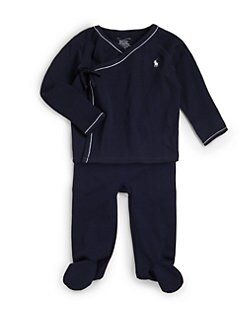 Ralph Lauren - Infant's Two-Piece Kimono Shirt & Pants Set