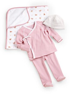 Ralph Lauren - Layette's Two-Piece Kimono Shirt & Pants Set