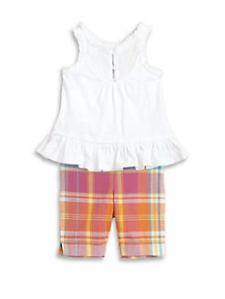 Ralph Lauren - Layette's Two-Piece Ruffled Tank & Plaid Leggings Set