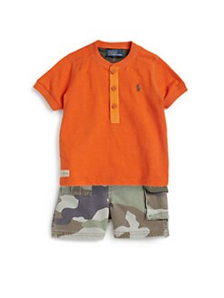Ralph Lauren - Infant's Two-Piece Shirt & Camo Shorts Set