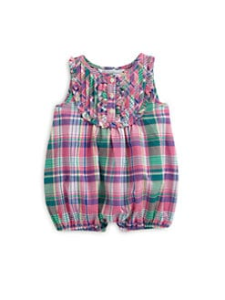 Ralph Lauren - Infant's Madras Bubble Shortall