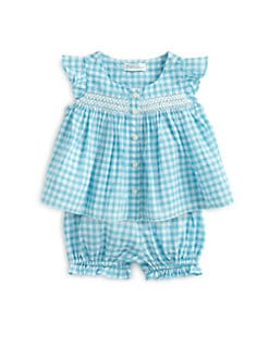 Ralph Lauren - Infant's Two-Piece Gingham Tunic & Bloomers Set