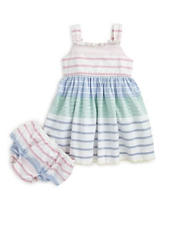 Ralph Lauren - Infant's Striped Oxford Sundress & Bloomers Set
