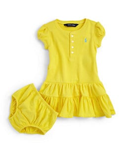 Ralph Lauren - Infant's Ruffled Henley Dress & Bloomers Set
