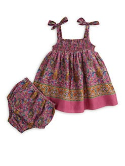 Ralph Lauren - Infant's Paisley Dress & Bloomers Set