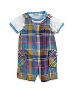Ralph Lauren - Infant's Two-Piece Madras Jumper & Tee Set