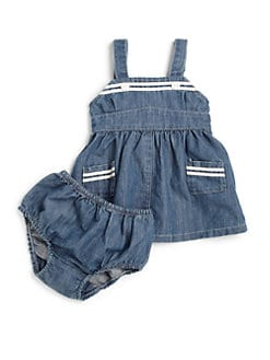 Ralph Lauren - Infant's Denim Sailor Dress & Bloomer Set
